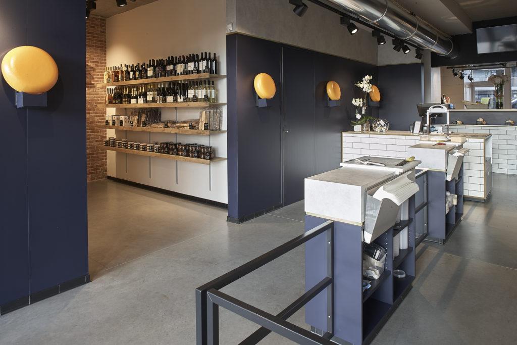 inrichting kaaswinkel cheese cheerse koeltoonbank marmer trendy design aalter integral