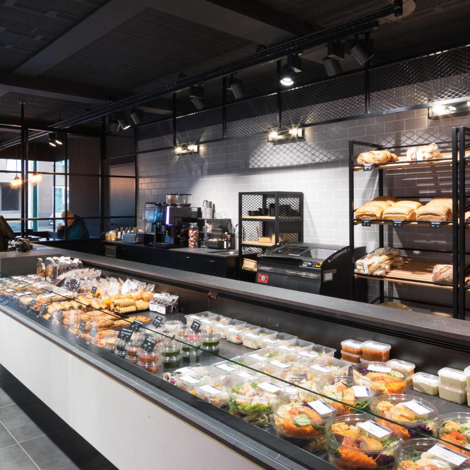 inrichting traiteur ateljee 94 foodmarket koeltoonbank trendy design oudsbergen integral