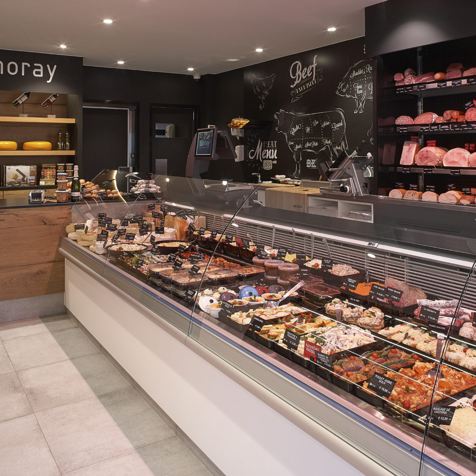 inrichting slager boucherie moray comptoir blegny integral