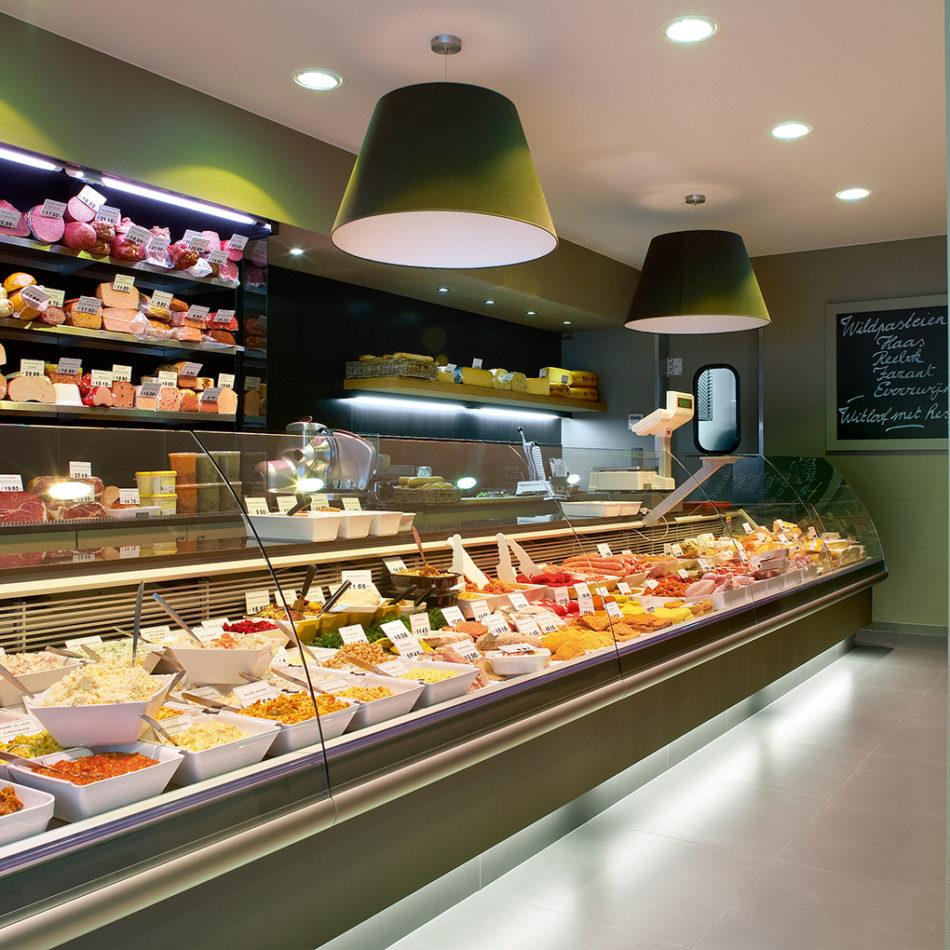 Totaalinrichting van slagerij De Clercq