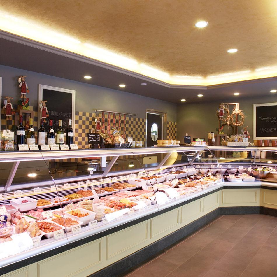 mooi interieur van slagerij Kipjes van De Coster