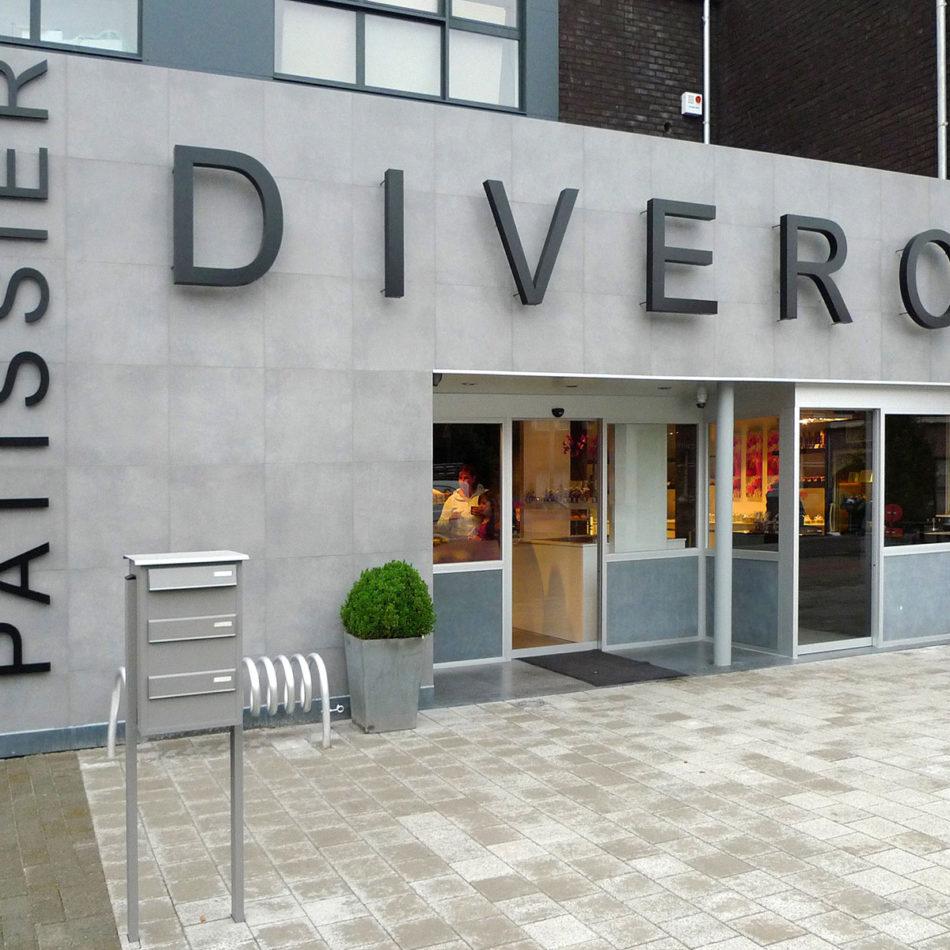 Foto van de voorkant van bakkerij Divero interieur
