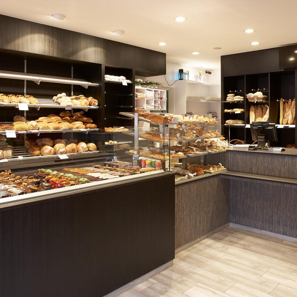 Bakker Dominguez foto van de inrichting van de bakkerij