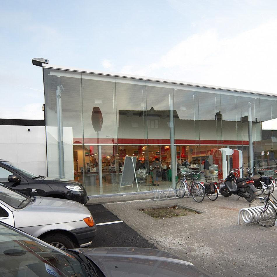 Carrefour Market Harelbeke - referentie slagerij-inrichting door Integral Interiors