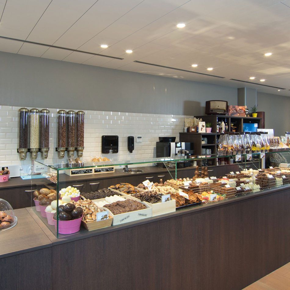 Interieur Olivier's chocolaterie