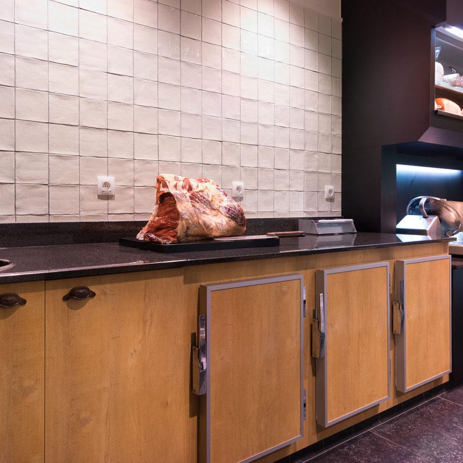 slagerij Boucherie Du Roleur mooi interieur