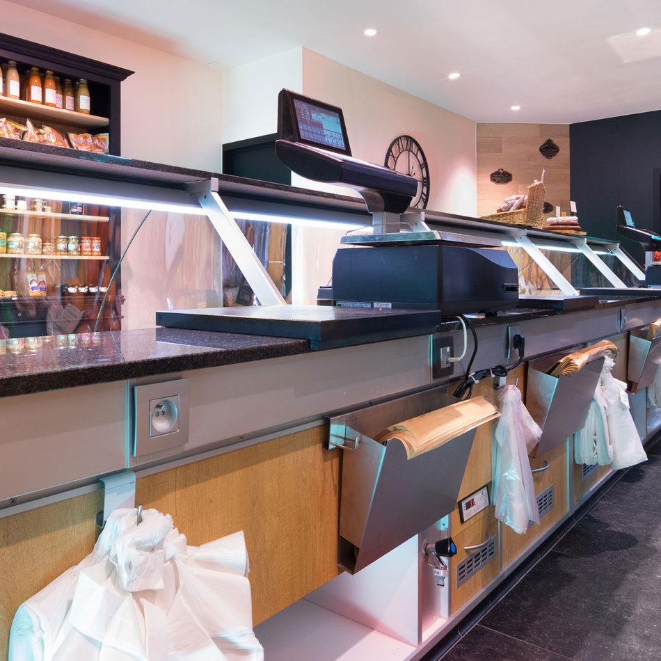 Boucherie Du Roleur inrichting slagerij