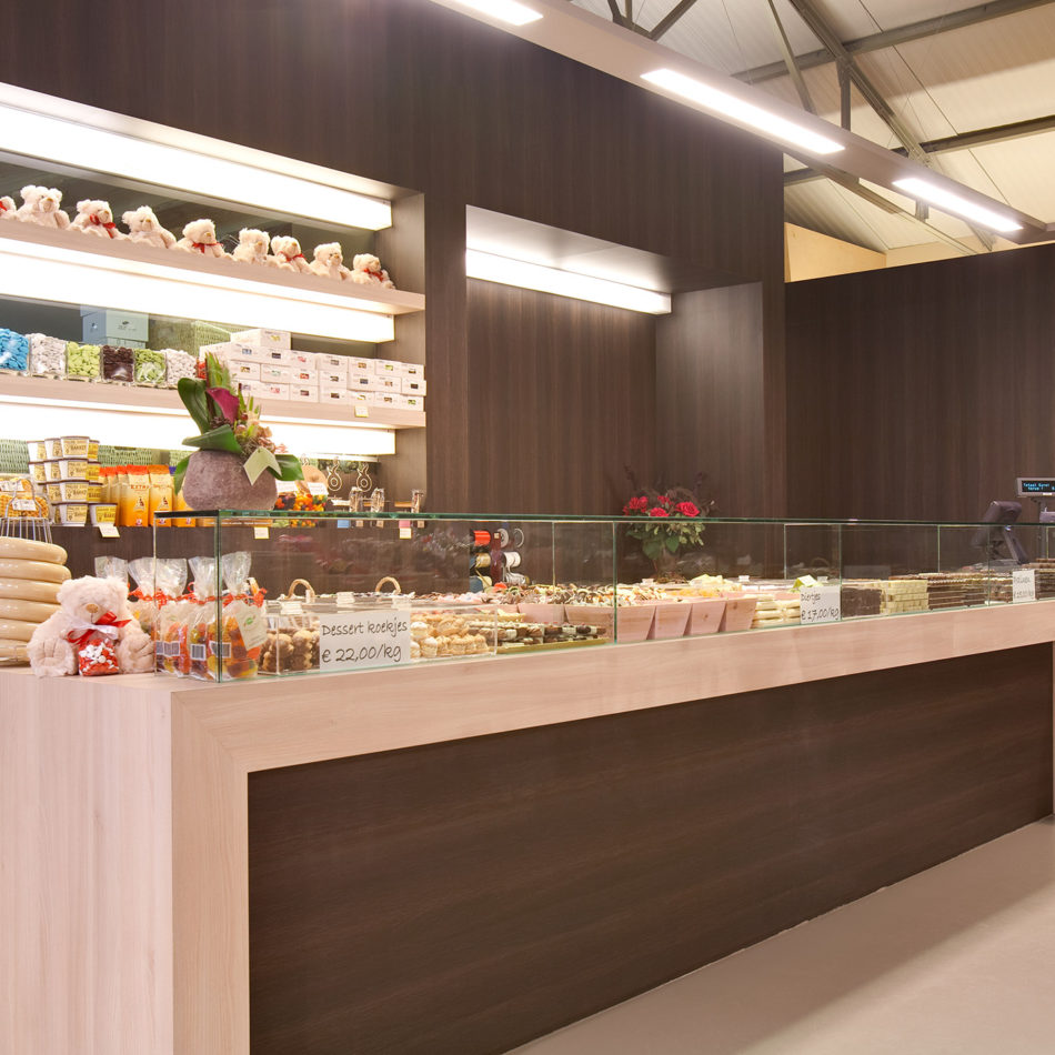Chocolaterie Blomme interieur toonbank