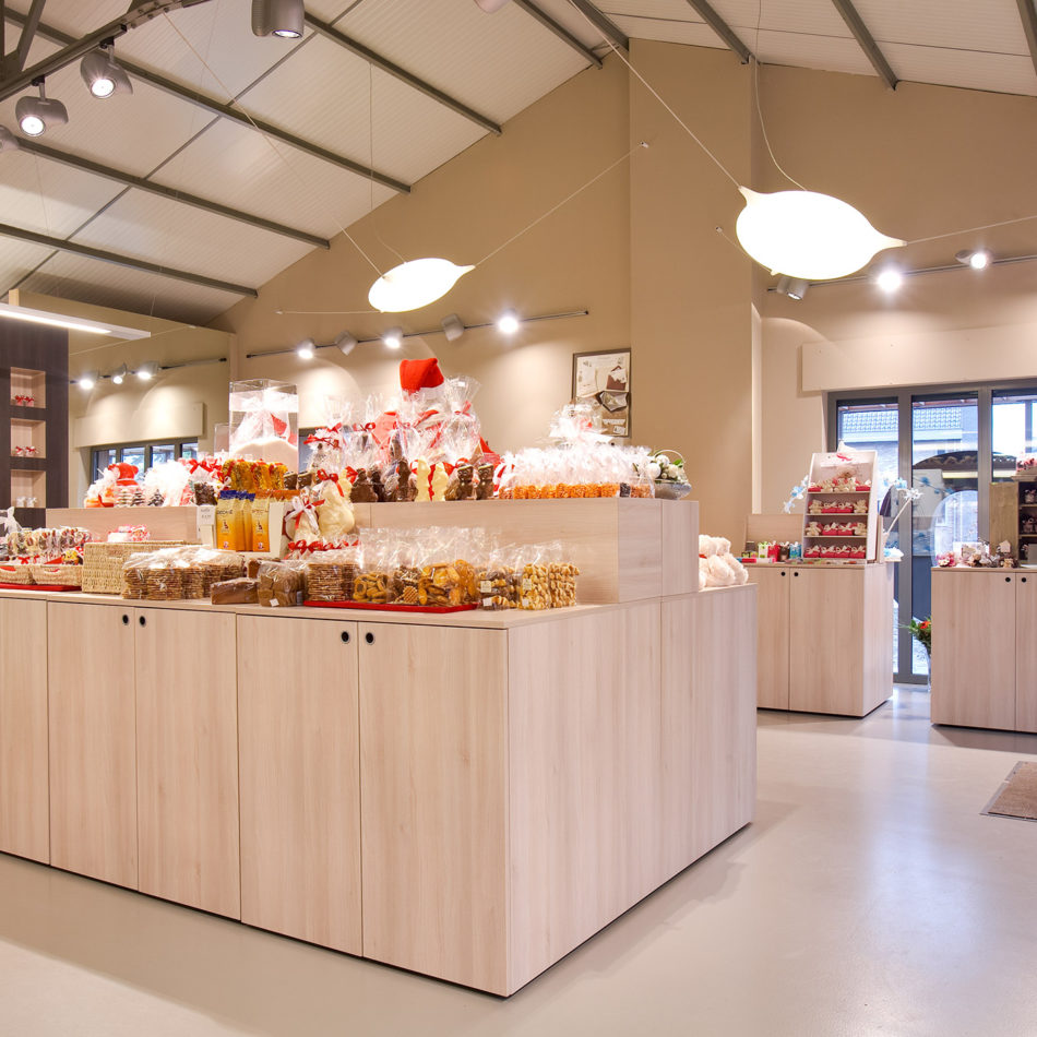 Chocolaterie Blomme totaalinrichting