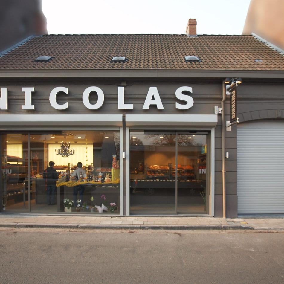 Nicolas inrichting bakker voorkant van de winkel
