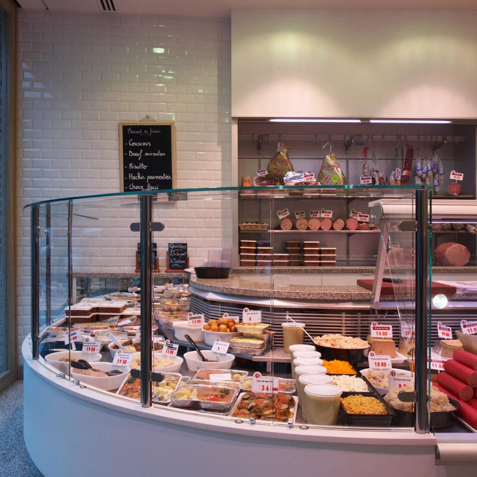 slagerij Terrier interieur en koeltoonbank door Integral