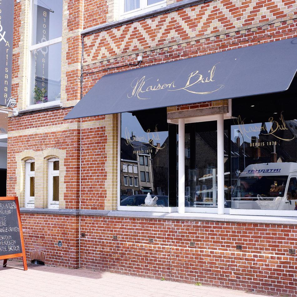 Bakkerij Maison Bril buitenkant van winkel inrichting