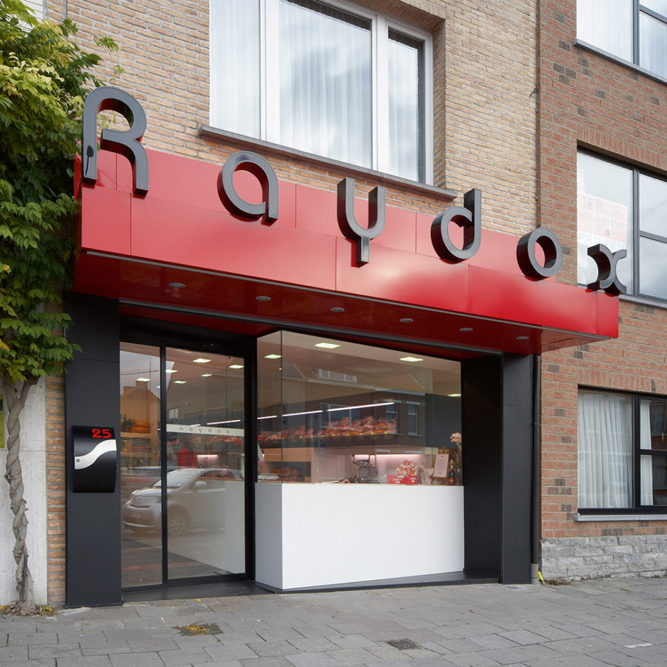Raydox buitenkant gevel traiteur inrichting