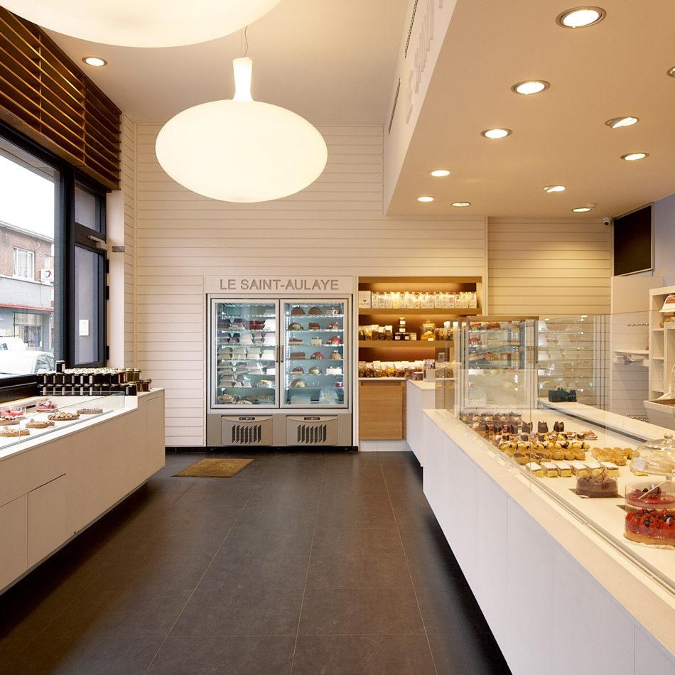 Le Saint-Aulaye gekoelde toonbanken van bakkerij