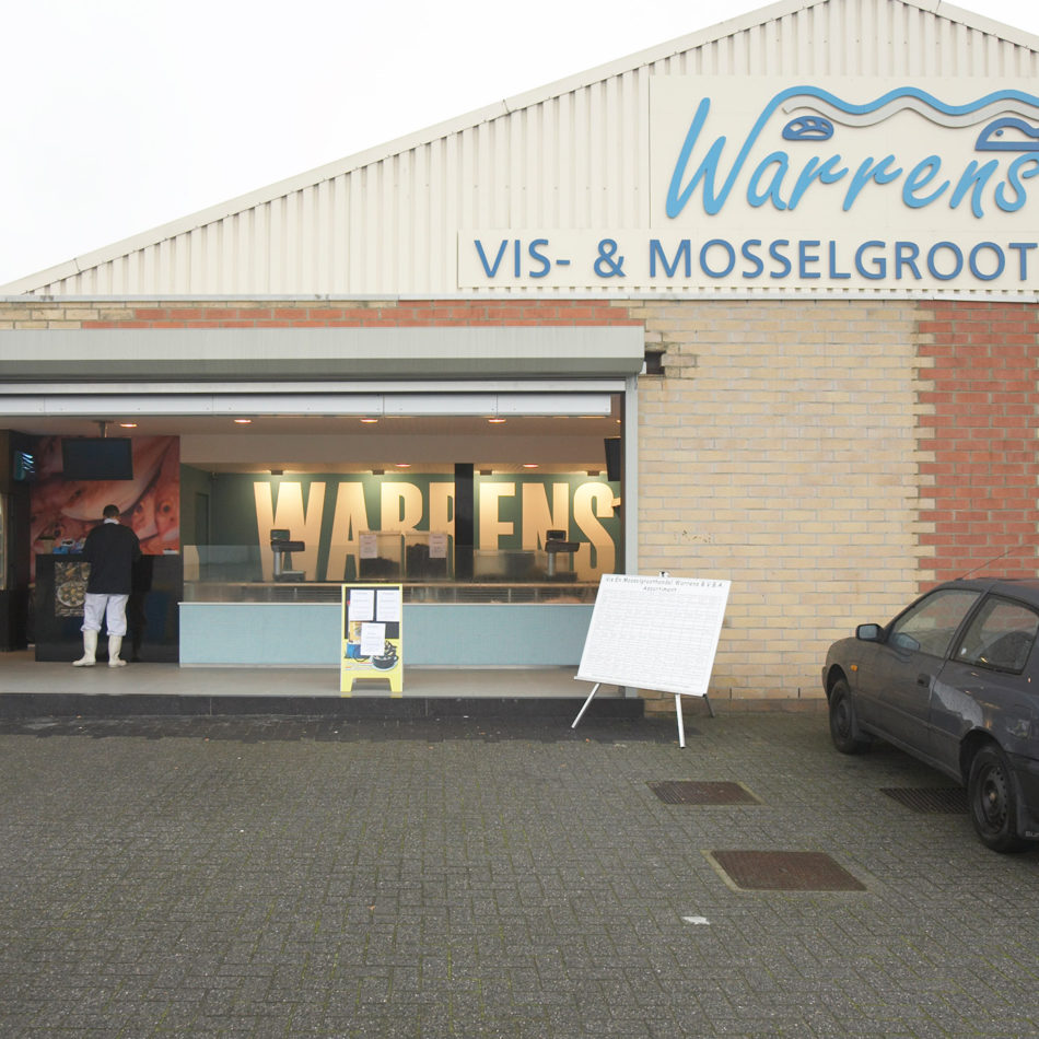 Warrens vishandel buitenkant winkel inrichting