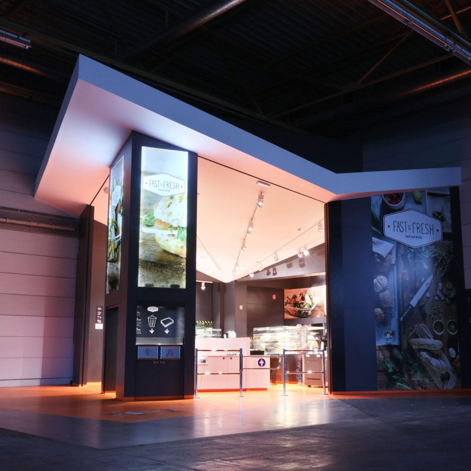 Flanders Expo Fast & Fresh horeca inrichting bistro door Integral Interiors