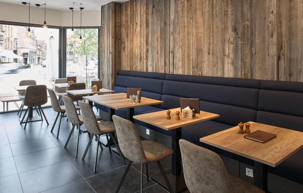 inrichting de mane bar bistro restaurant bank diksmuide integral