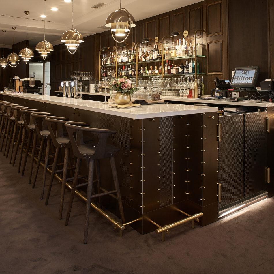inrichting bar restaurant hilton brussel integral