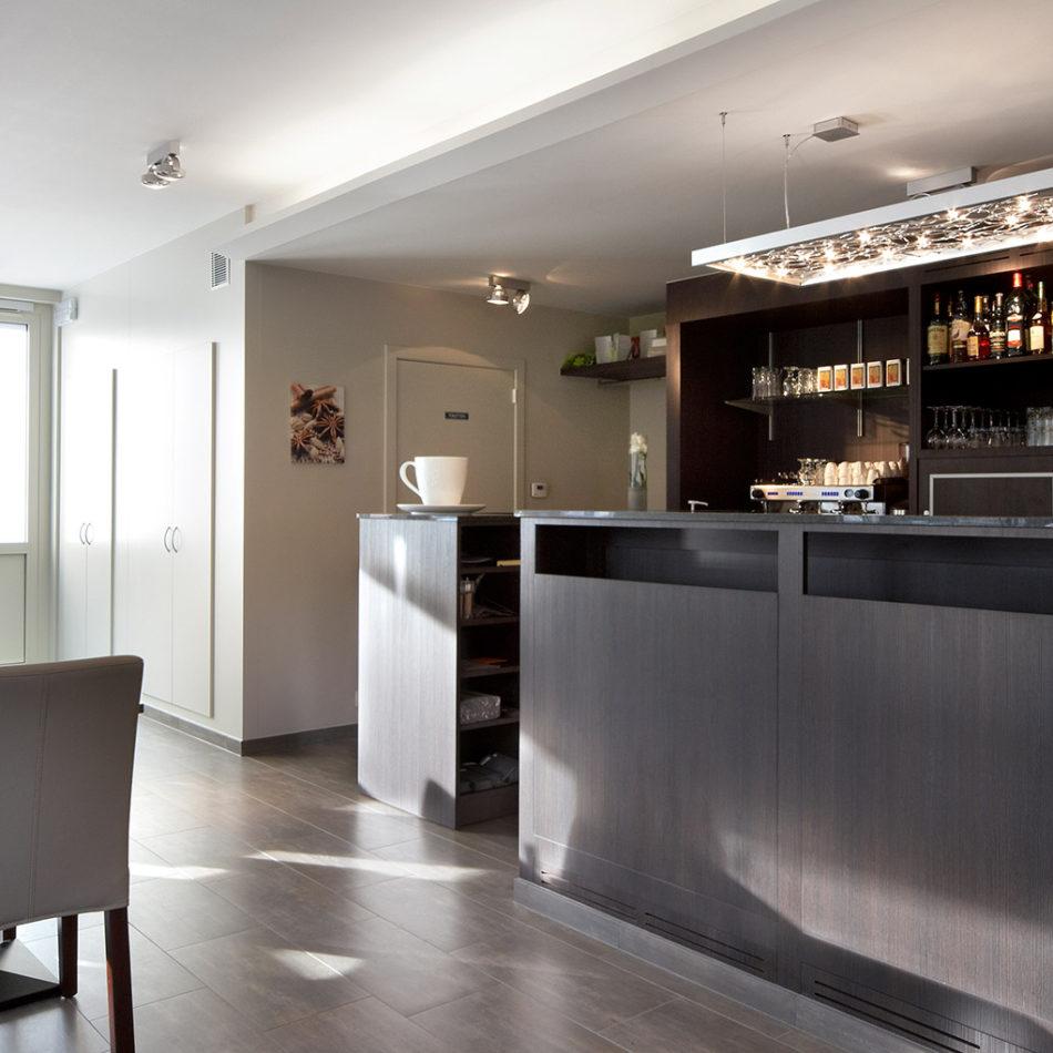 Restaurant/brasserie Dhondt in Gavere - moderne inrichting en interieur door Integral Interiors