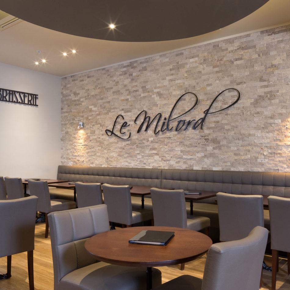 nieuw interieur Le Milord restaurant in Sint-Agatha-Berchem