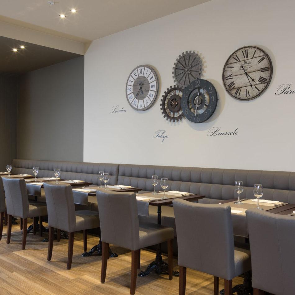 Mooie inrichting van restaurant Le Milord in Sint-Agatha-Berchem