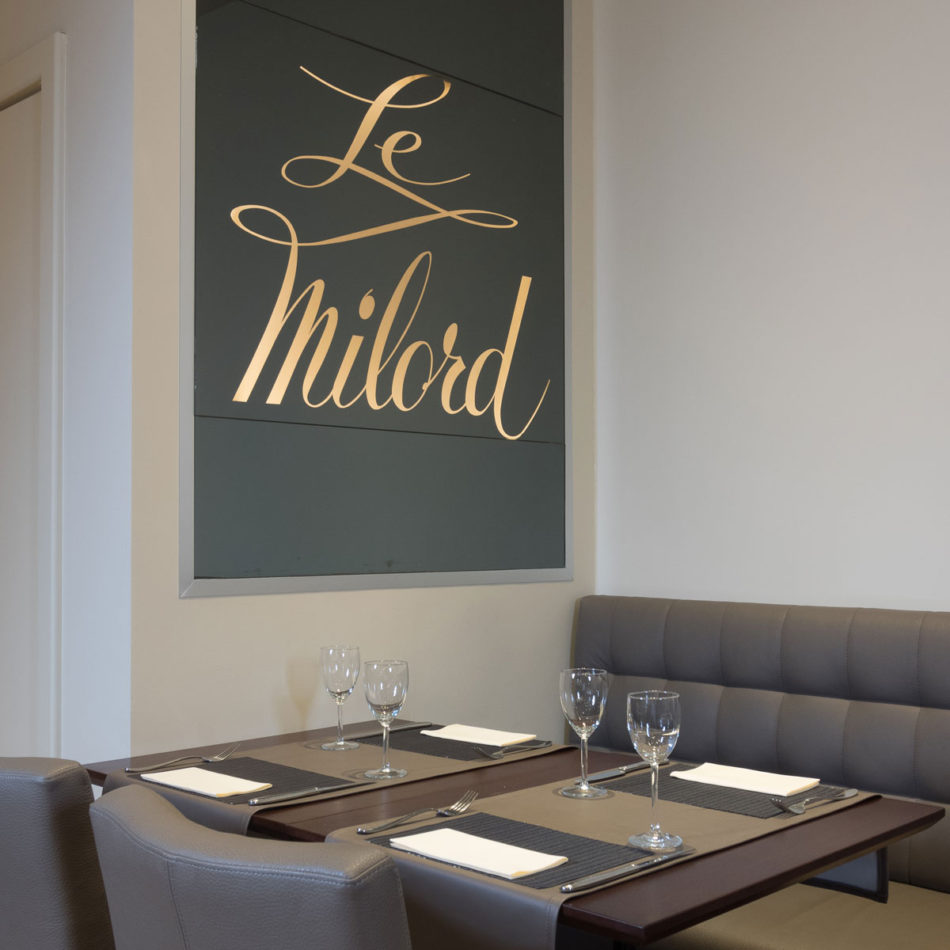Totaalinrichting en interieur restaurant Le Milord in Sint-Agatha-Berchem