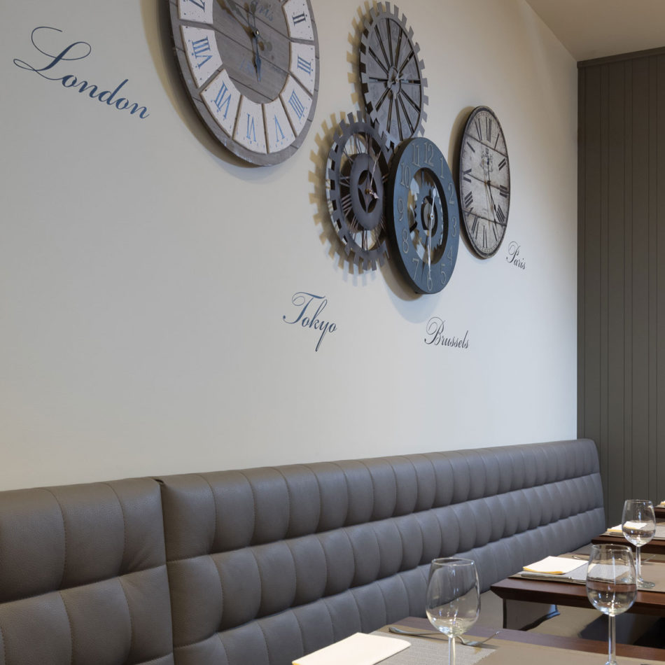 Inrichting en meubilair restaurant Le Milord in Sint-Agatha-Berchem door Integral Interiors