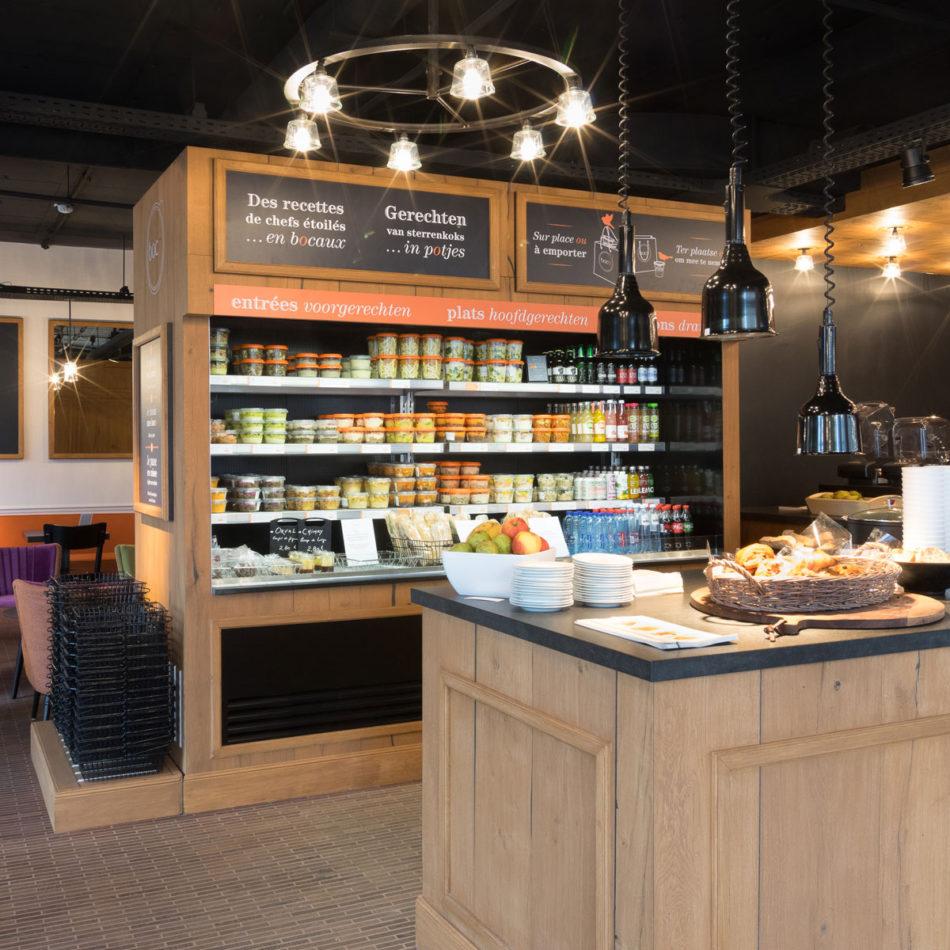 Totaalinrichting restaurant Boco Brussel door Integral