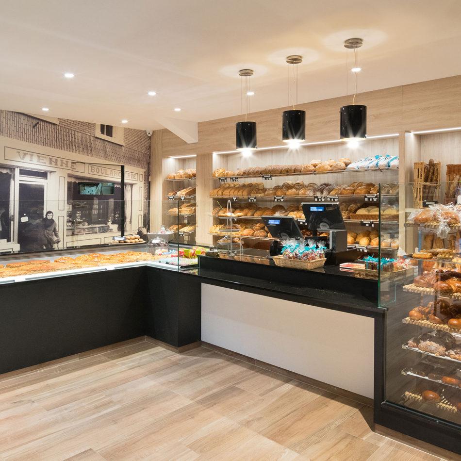 Boulangerie Vienne bakker integral interiors toonbank