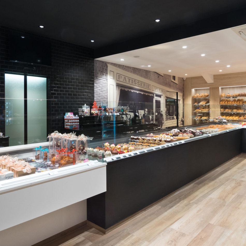 Bakkerij toonbank Boulangerie Vienne inrichting