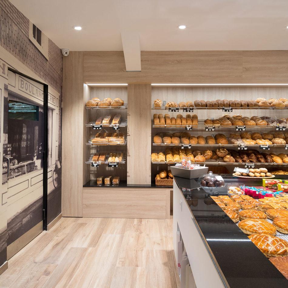 Toonbank van Boulangerie Vienne bakkerij