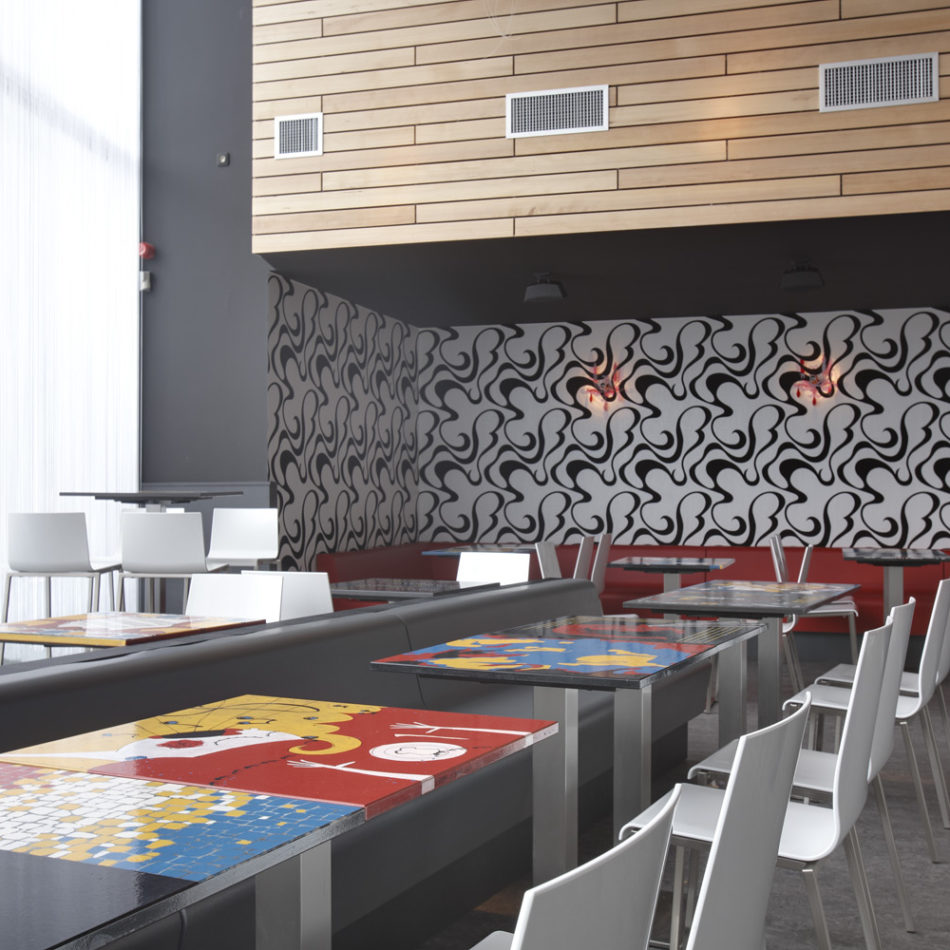 Publieke ruimte modern meubilair Herbakker