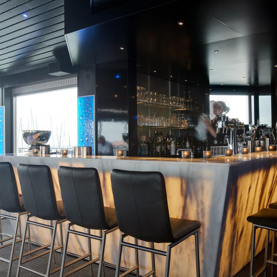 Bar restaurant Spetters in Breskens, totaalinrichting door Integral