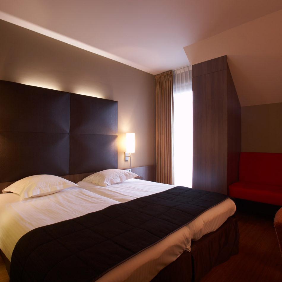 Totaalinrichting hotelkamer Stiemerheide