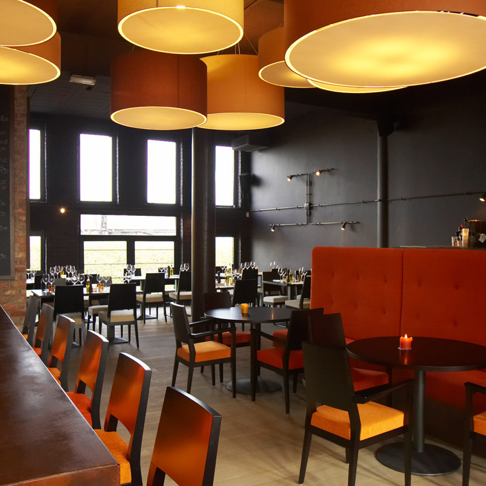 Brasserie Sofie in Lennik - inrichting door Integral Interiors