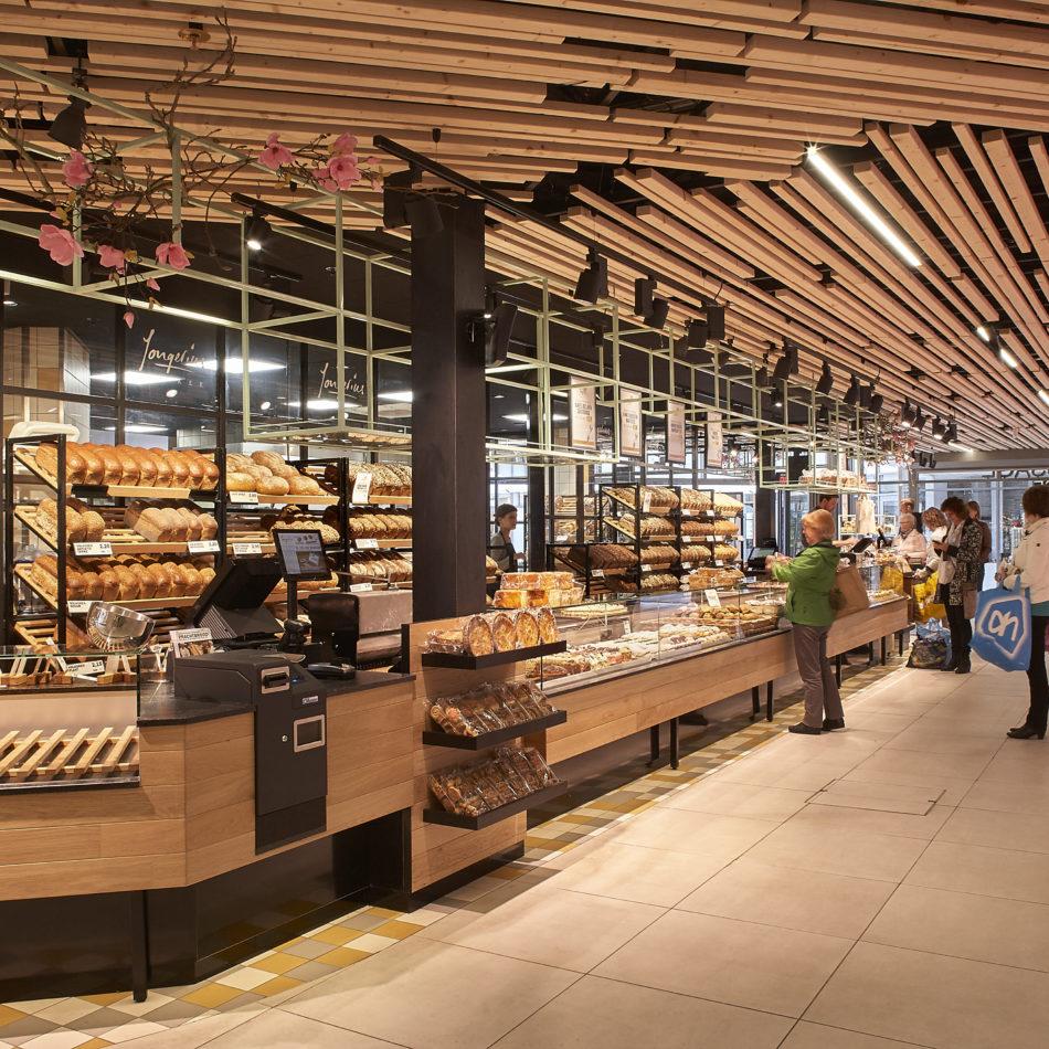 foodmarket interieur intergral winkel bakker