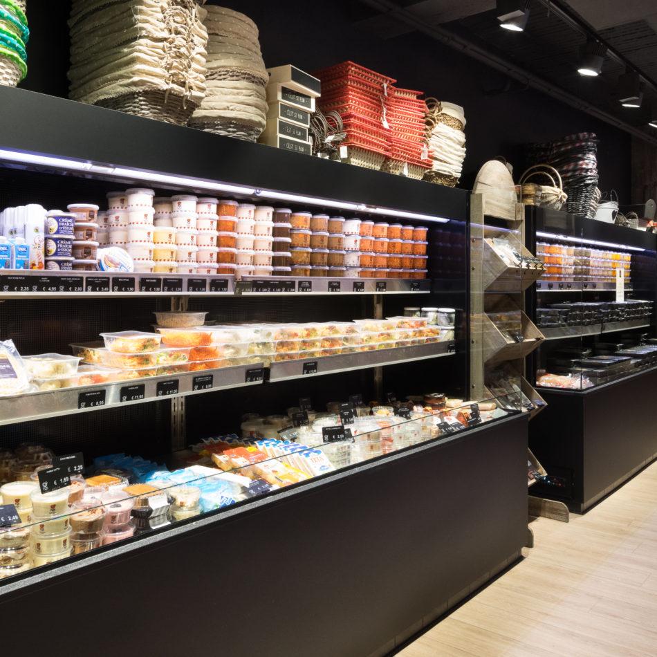 bereide gerechten toonbank integral koeling