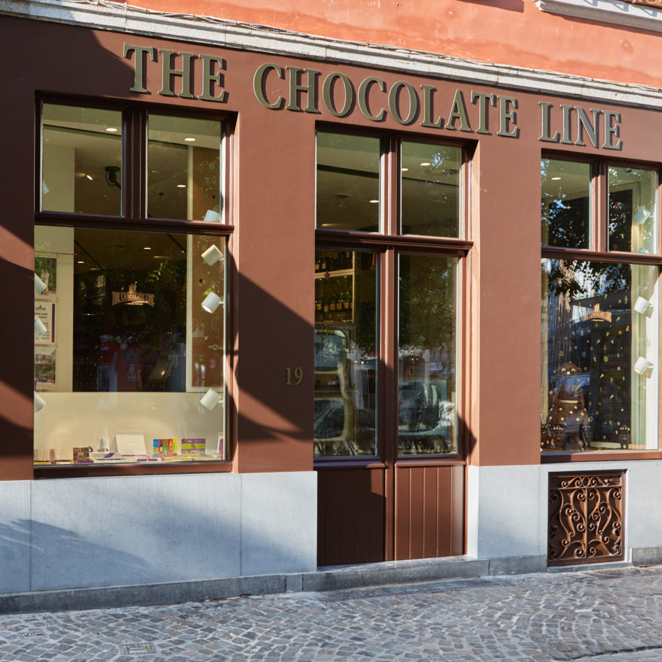 Buitengevel THE CHOCOLATE LINE BRUGGE