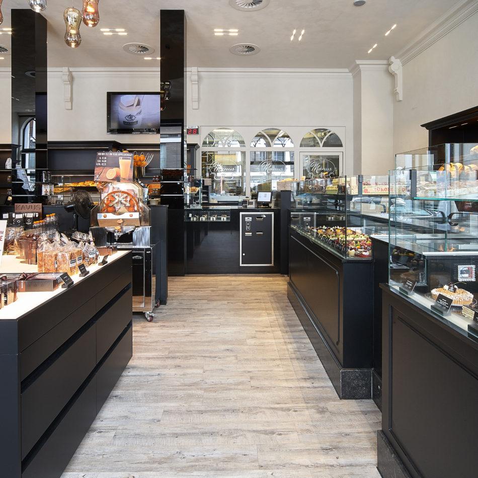 Patisserie Manus Brasschaat winkel interieur integral eeklo