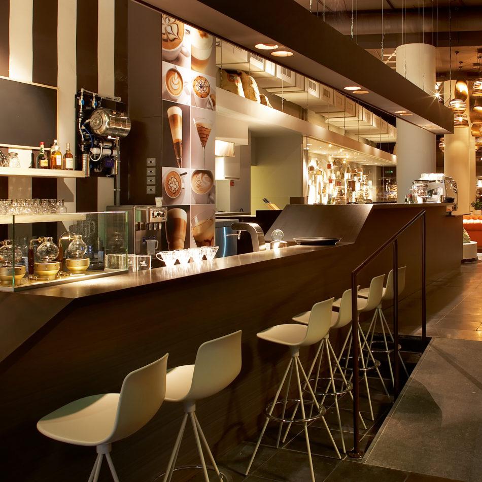 inrichting viva sara bar bistro restaurant koffie chesterfield kortrijk integral